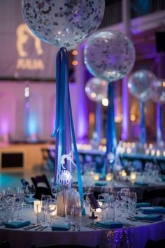 You will flip over these centerpieces at this Gymnatic celebration. See more at www.mitzvahmarket.com.
