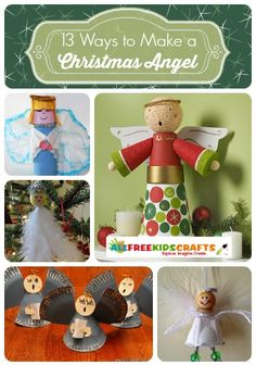 Ready to start crafting for Christmas? Don't miss these 13 Ways to Make a Christmas Angel! Seriously- these are the cutest angel crafts around! | AllFreeKidsCrafts.com