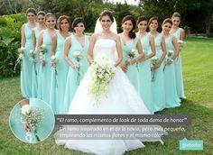 Los detalles para las damas pueden ir coordinados con los de la novia para que den una sensación de armonía. Fotografía: Vicente Mena  #bridesmaid  #accessories #wedding #ebodas