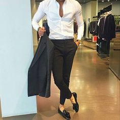 45 Professional Casual Work Outfits for Men - ClothinLine Formal Casual, Style Casual, Casual Work Outfits, Business Casual Outfits, Work Casual, Swag Style, Dinner Outfit Classy, Dinner Outfits, Streetwear