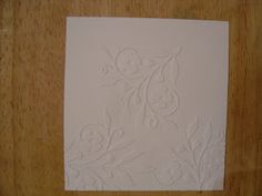 The Technique Zone: Cuttlebug embossing