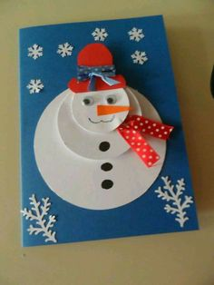 Ideas Diy Kids Winter Crafts Snowman For 2019 Diy Christmas Cards, Christmas Crafts For Kids, Christmas Activities, Xmas Cards, Kids Christmas, Holiday Crafts, Christmas Decorations, Christmas Gifts, Christmas Snowman