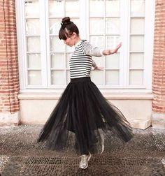 Bloggers @luvinurstyle #tulle #net #skirt