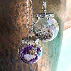 Living Memory Glass Bottle Floating Charms Locket Necklace
