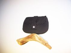 Black Clutch Purse with White Polka Dots by TrampLeeDesigns, $16.00