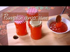Pumpkin jam with ginger - Watch how to make this deliciously different jam. Sweet pumpkin combined with ginger and a touch of lemon
