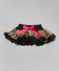 Look what I found on #zulily! Tan Leopard Bow Tutu Skirt - Infant, Toddler & Girls #zulilyfinds