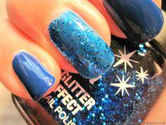 Html, Class Ring, Nail Polish, Nails, Spot Lights, Blue, Finger Nails, Ongles, Nail Polishes