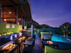 """This modern Southwestern spread just outside Scottsdale is """"beautiful beyond expectation."""" Light stucco buildings and casitas in classic Sonoran design, terraced into the north slope of Camelback Mountain, offer a contemporary design and """"exceptional views."""""""