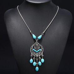 12 Beads Tassel Turkey Necklace
