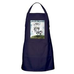Bovinna The Mooterial Girl dark #Apron by @LTCartoons @cafepress @pinterest #kitchen #gift #aprons #sale #cows