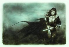"""""""The five faces of hécate III"""" by Luis Royo"""