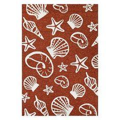 Couristan Outdoor Escape Cardita Shells Indoor/Outdoor Area Rug Terra Cotta - 73340111080110T