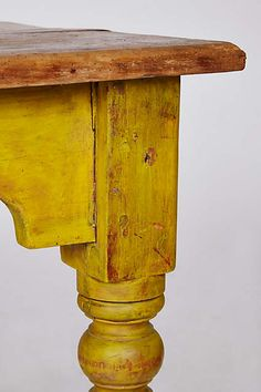 Gorgeous yellow table leg from Anthropologie