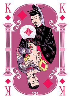 Playing cards deck. Diamonds