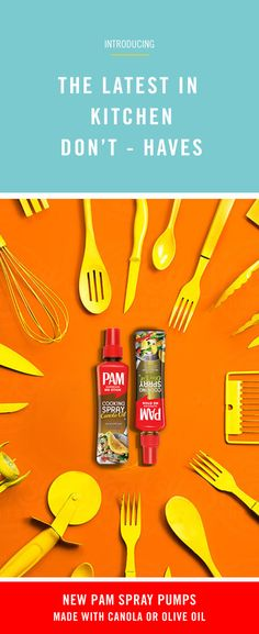 With NEW PAM Spray Pumps you can get perfect portion control with no artificial colors, flavors, or preservatives. #youPAMdoit