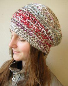 crochet hat-love the yarn.