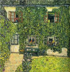 """Das Haus von Guardaboschi"" [The House of Guardaboschi] - Gustav Klimt, 1912, Art Nouveau {Modern), Late works, Landscape, oil on canvas, 110 x 110 cm"