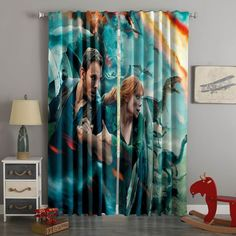 Printed Jurassic World Fallen Kingdom Style Custom Living Room Curt – Westbedding Two Shower Curtains, Cute Curtains, Types Of Curtains, Ikea Curtains, Bedroom Curtains, Hanging Curtain Rods, Decorative Curtain Rods, Victorian Curtains, Custom Made Curtains