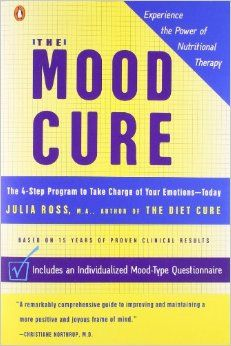 The Mood Cure: The 4-Step Program to Take Charge of Your Emotions  Helps you identify which brain chemicals you might be deficient in. Whether it's norepinephrine, serotonin, dopamine, etc.
