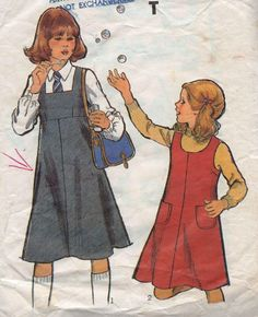 Vintage Sewing Pattern / Style 2387 / child's dress sewing