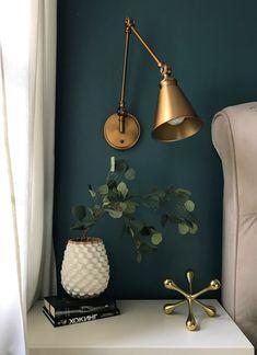 Dark Blue Bedrooms, Bedroom Green, Bedroom Colors, Bedroom Ideas, Bedroom Decor, Bedroom Styles, Bedroom Designs, Teal Accent Walls, Accent Wall Bedroom