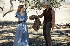 Evan Rachel Wood as Dolores and Jimmi Simpson as William