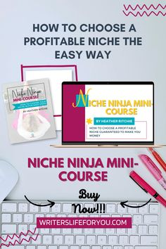 Are you struggling with niching down with choosing a profitable niche? Looking to make more money as a freelance writer? Click to get the mini-course that teaches you how to choose a profitable niche for your writing. how to pick a writing niche| how to choose a writing niche| most profitable copywriting niches| the most profitable freelance writing niches| how to choose the most high-paying freelance niches| Creating A Blog, Copywriting, Make More Money, Are You The One, Writer, Teaching, Make It Yourself, Mini, Easy