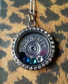 Bullet Casing Locket w/ shotgun shell shotgun