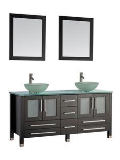 Unique Modern Glass Bathroom Vanity