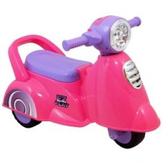 Vespa scooter rose pink for kids shop it by Bruun!