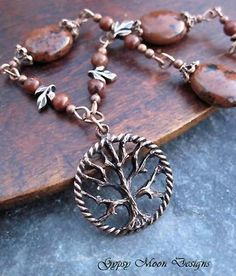 Tree of Life necklace / Bohemian Jewelry  by Gypsymoondesigns, $29.00