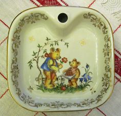 French Vintage Babies Plate