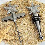 Beach theme Starfish Wine Opener, Wine stopper set 1437-DC