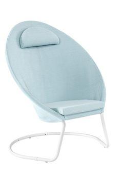 Outdoor Garden Furniture, Komfort, Bassinet, Chair, Design, Home Decor, Products, Galvanized Steel, Light Blue
