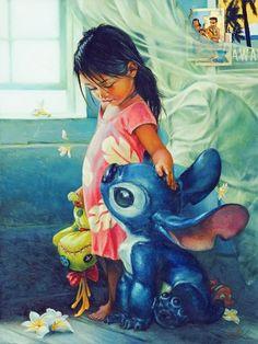 """Beautiful """"Lilo and Stitch"""" fanart"""