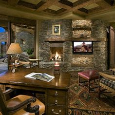 traditional home office by Bess Jones Interiors