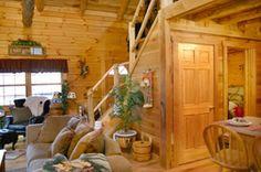 Log cabin interior -- Stone Settler, Hocking Hills, Ohio