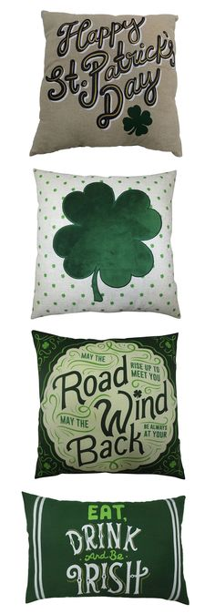 Refresh your living room or bedroom for spring with an Irish-themed throw pillow. Perfect for St. Patrick's Day, these throw pillows feature fun typography and four-leaf clover prints. Get festive at Kohl's.