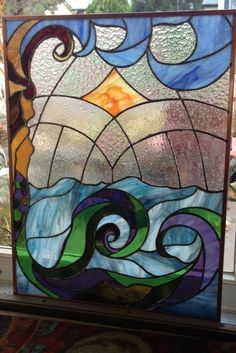 Stained glass mermaid by Ecospiriturbanfarm on Etsy