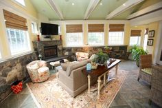 Sunrooms, Porch Ideas, Porches, Living Spaces, Colors, Kitchen, House, Home Decor, Front Porches