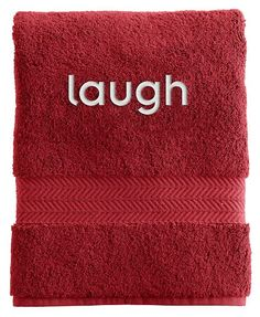 Have you considered monogramming your towels with sayings as opposed to your name or initials? Try something fun! http://rstyle.me/n/pxcw9nyg6