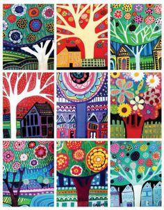 SALE ENDING  Landscape Art ACEO card print set by HeatherGallerArt
