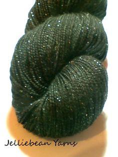 JellieBean Yarns - Akkarin Stardust Sock Yarn. £15.00, via Etsy