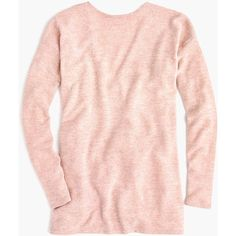 J.Crew Reversible V-Back Long-Sleeve Tunic ($79) ❤ liked on Polyvore featuring tops, tunics, reversible top, v back top, pink long sleeve top, pink tunic and j crew tunic