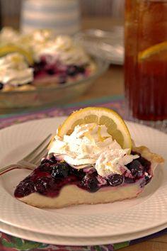 Fresh Blueberry and Lemon Cream Pie