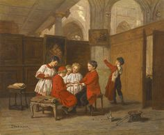 Théophile Emmanuel Duverger (1821-1901) — Altar Boys in the Sacristy (1456×1200)