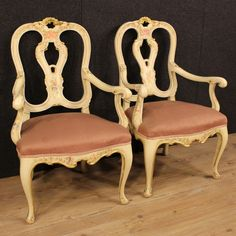 1300€ Pair of Venetian armchairs in lacquered, painted and gilded wood. Visit our website www.parino.it #antiques #antiquariato #furniture #lacquer #antiquities #antiquario #chair #armchair #fauteuil #decorative #interiordesign #homedecoration #antiqueshop #antiquestore #gold #golden #lacquered