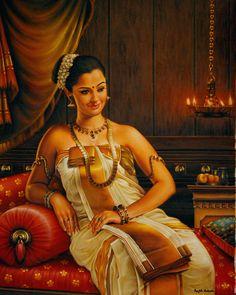 Traditional Indian Oil painting --------------------------------------- https://es.pinterest.com/akjwork/art-for-home/