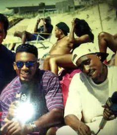 Bill Bellamy and Tupac Shakur